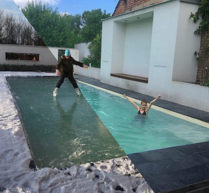 Prečo cez zimu nevypúšťať bazén? Šetríme vodu aj peniaze – HydroEco Pool bazén bez zazimovania